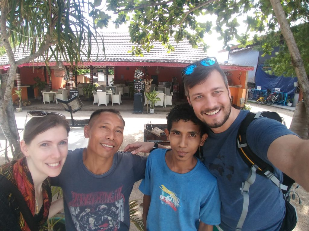 selfie with the locals of Gili Meno