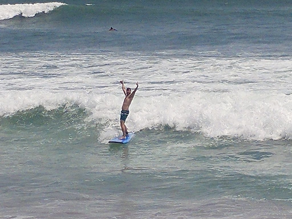 surfing in Canggu