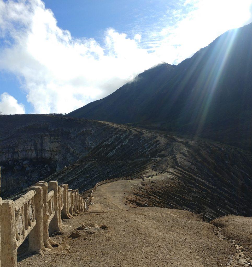 around the crater of vulcano Ijen