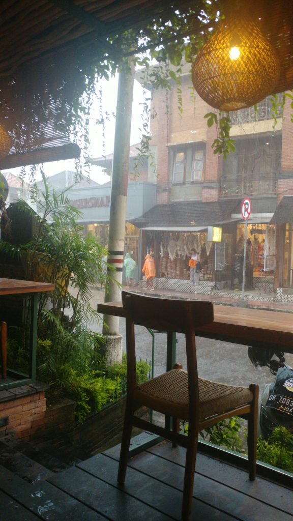 heavy rain in Ubud