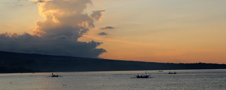 sunset at the beach of Amed