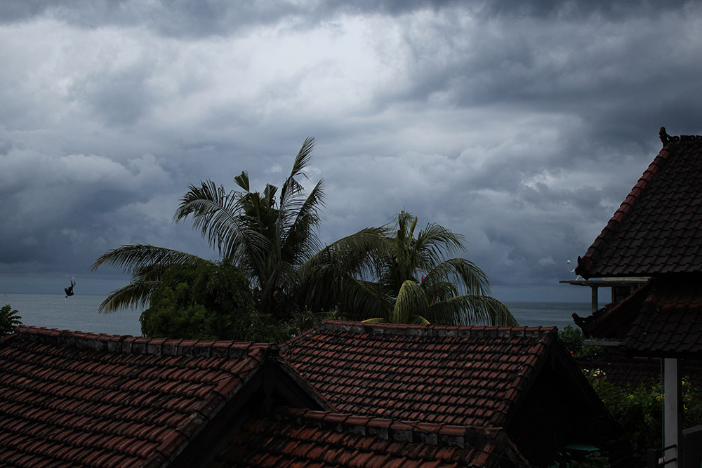 bad weather on Bali