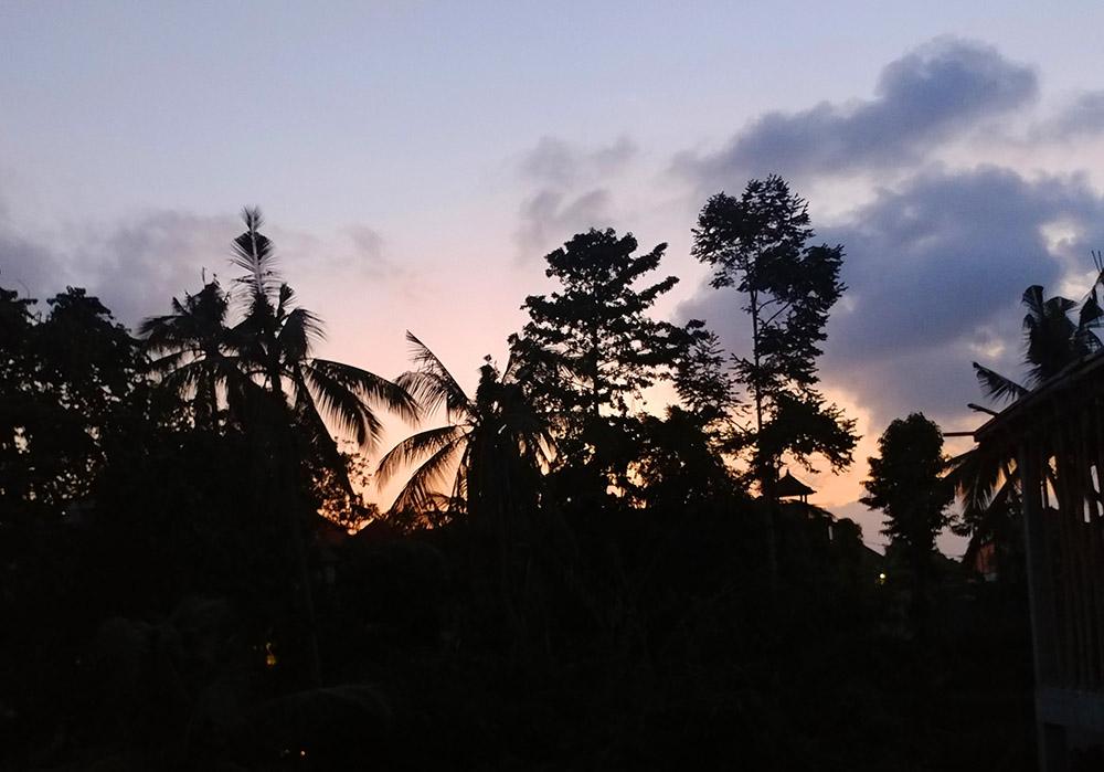 Sunset at Ayu Homestay in Ubud