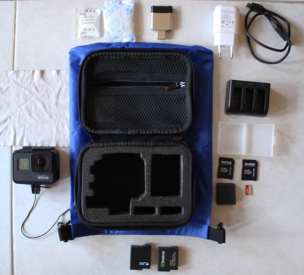 GoPro Hero 7 Black with equipment