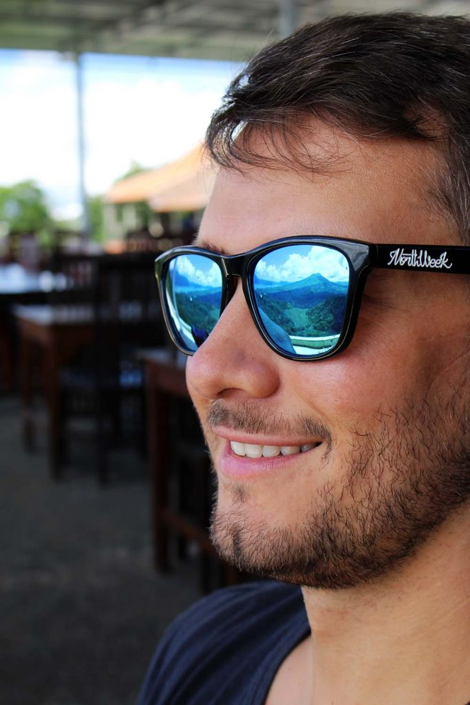 Mount Batur in Andis sunglasses