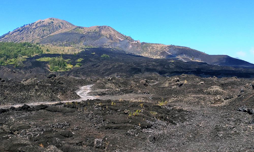...the lavafield at Mount Batur