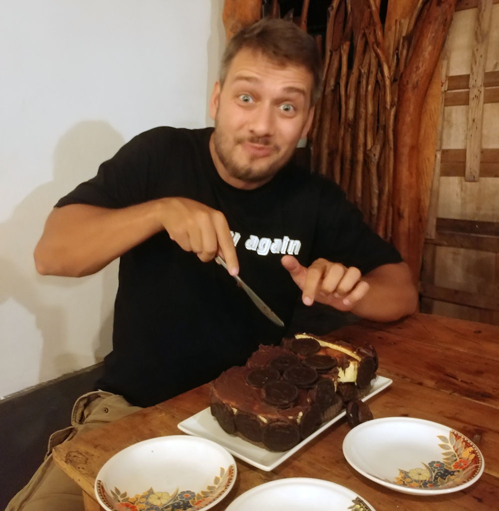 Andi and his birthday cake