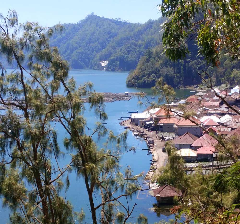 village at Lake Batur