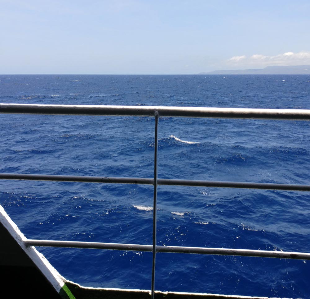 on the ferry to Lombok