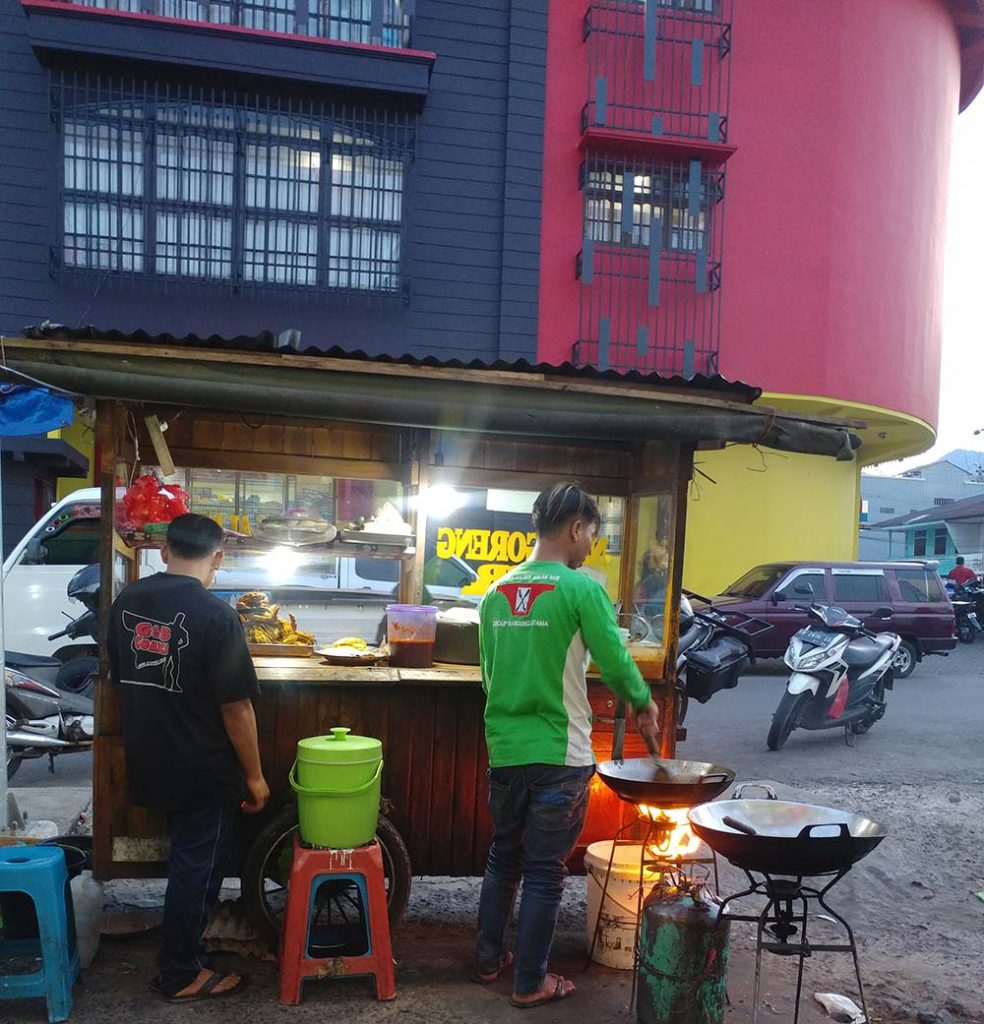 street food in Ruteng