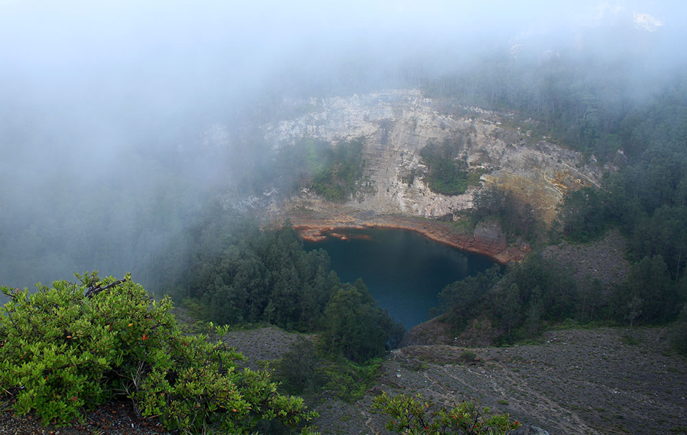 fog at the smallest lake