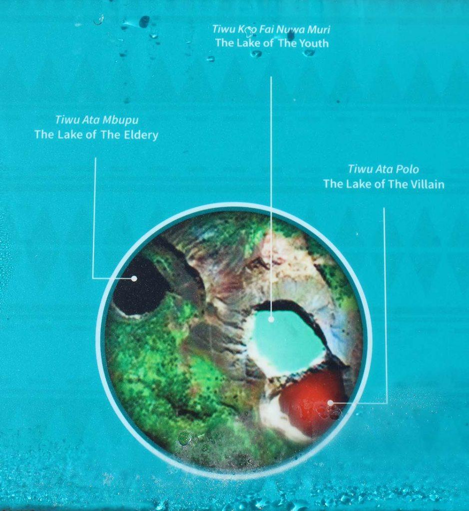 history of the three lakes in Kelimutu