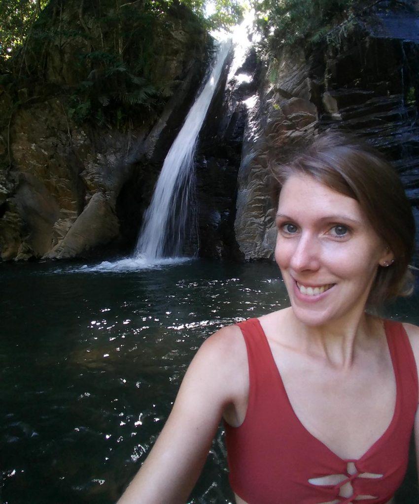 selfie at the waterfall