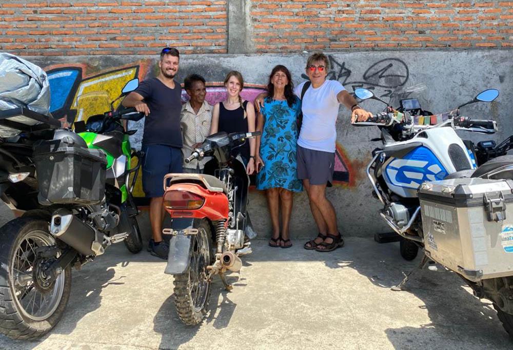 meet our motorbike friends in Moni