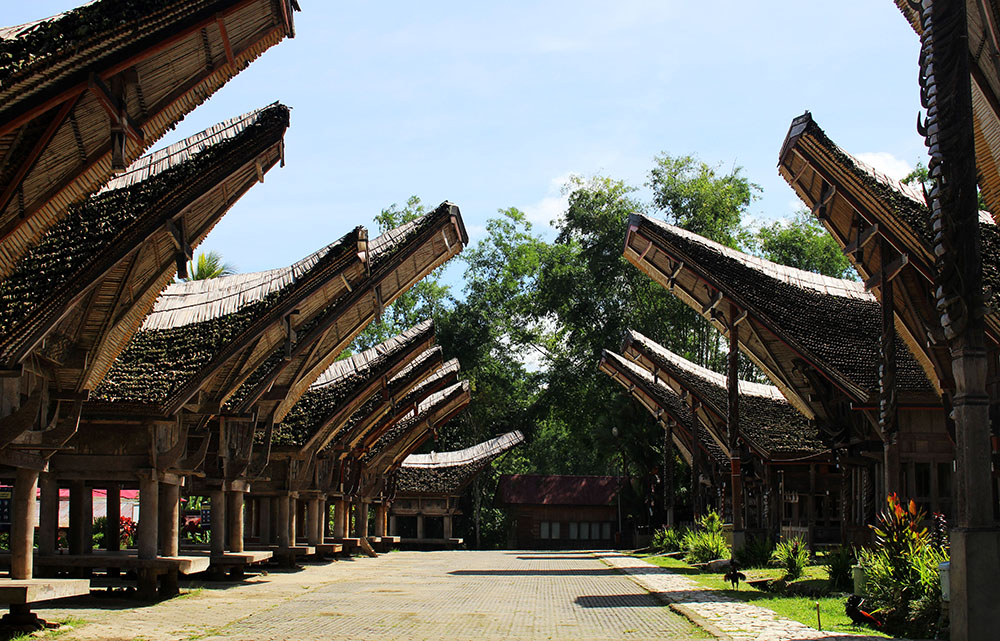 view inside Kete Kesu