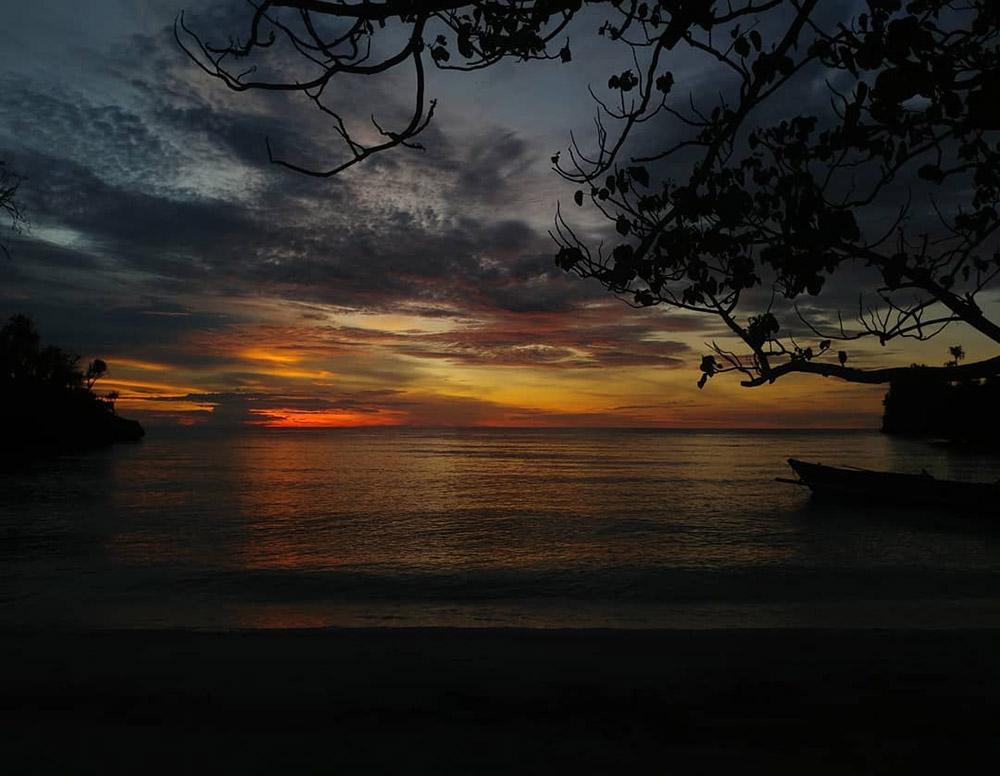sunset at the Harmony Bay