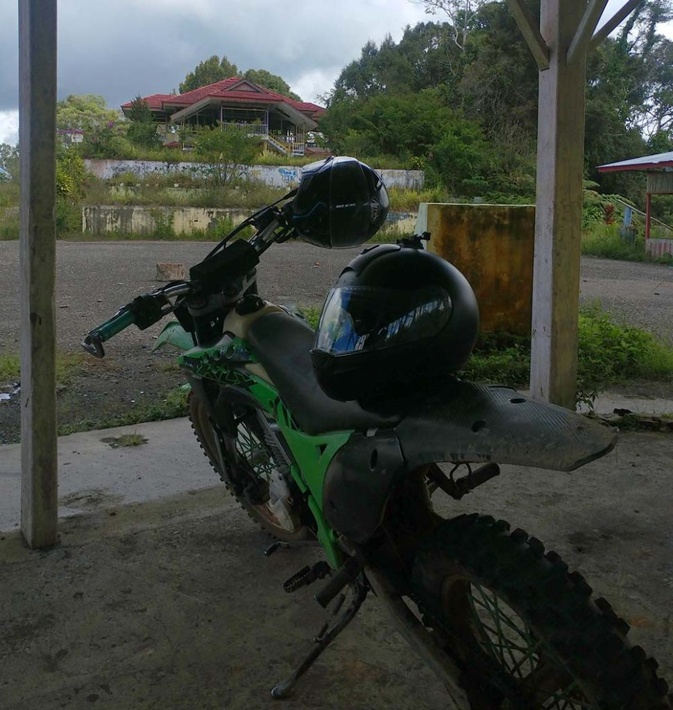 with the bike